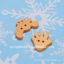 DIY cute decorative hand wood craft button