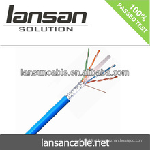 Lansan utp cat6 cable lan cable 4P 23AWG BC pass fluke test good quality