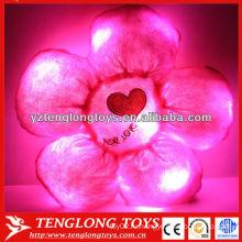 Плюшевый плюшевый цветок подушка светодиодный ночник детей подушки