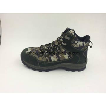 Dividir couro botas de segurança Camo (16072)