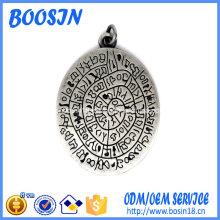 Cheap Custom Oval Metal Logo Tag Charm for Wholesale