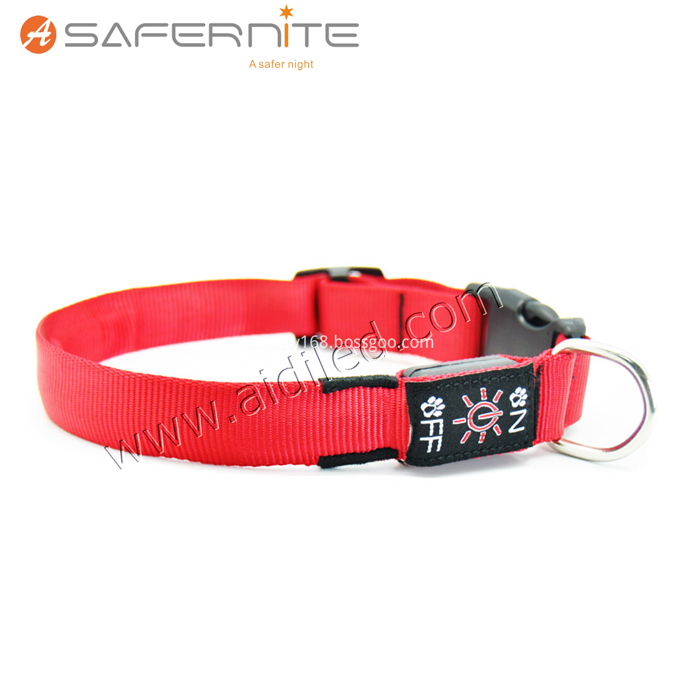 Nylon Webbing Led Dog Collar