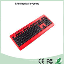 113 touches Azerty Ultra Slim Wired Multimédia Français Layout Mini Clavier (KB-1802M)