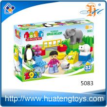 2016 Nuevo juguetes determinados del bloque hueco del parque zoológico de la educación de DIY para los cabritos