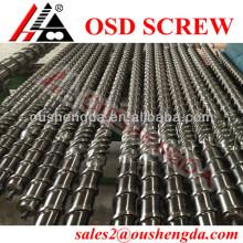 Barril de un solo tornillo de LDPE / barril de tornillo bimetálico para máquina de soplado de película