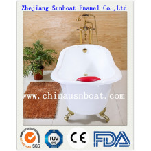 Enamel Single Bathtub with Legs