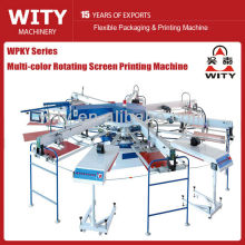 WPKY Series Multi-color Automatic textile screen printing machine