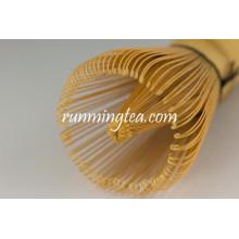 Batidor de té de bambú dorado de 100 dientes