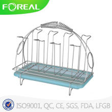 Metal Wire Cup Holder with Plastic Tray