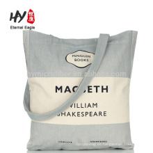 Bolso de compras grande de la lona de la impresión de seda simple del logotipo
