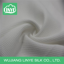 elegant white polyester fabric for autumn one-piece dress