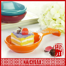 Apple haped bakeware set ceramic apple pie cake plate bakeware with stainless steel shelf