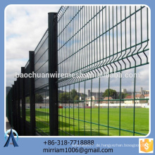 Heißer Verkauf neuer Entwurfsqualitäts-populärer PVC beschichtete Gartenzaun-Dreieck, der Zaun bördelt