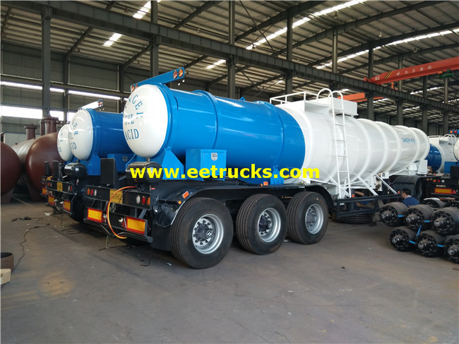 17m3 H2SO4 Delivery Tanker Trailers