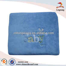 Wholesale Embroidery 100% Cotton Baby Blanket