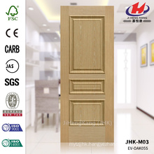 JHK-M03 3 Panel Iran 15mm Depth Pressing Engineer ASH Wood Veneer 2016 Door Skin