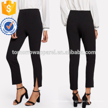 Split Hem Cigarette Pants Manufacture Wholesale Fashion Women Apparel (TA3073P)