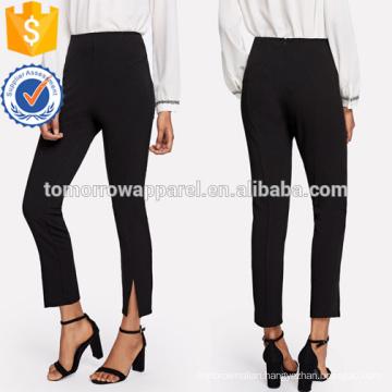 Split Hem Cigarette Pants Manufacture Wholesale Fashion Women Apparel (TA3073P)