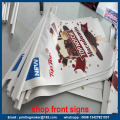 Tanda-tanda Bendera PVC Shop Sign Promotion
