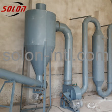 Air flow pipe wood sawdust dryer