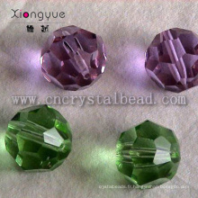 Boule de verre en cristal facetté rond 32 perle