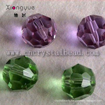 32 Faceted round crystal glass ball Bead