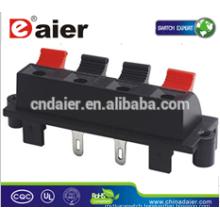 15 amp terminal block; 4 way speakers; amplifier speaker terminals