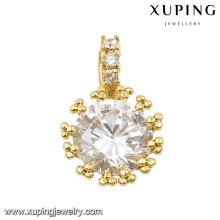 31835 xuping 14k gold jewelry wholesale latest designs single stone pendants