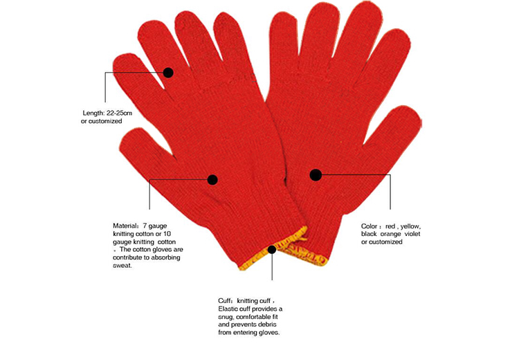 Colored Cotton Gloves