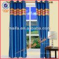 Hot Sale Grommet Top Fake Slik With Colourful Stripes Drapery Design For Living Room