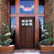 Venta caliente Craftsman Puertas exteriores de madera maciza