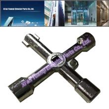 Elevator Lift Spare Parts Door Key Lock Die-Casting Stainless Steel For Elevator Door