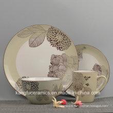 4PCS European Style Ceramic Dinnerware Set