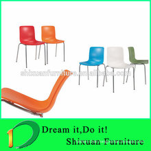 wholesale metal frame stackable restaurant chair