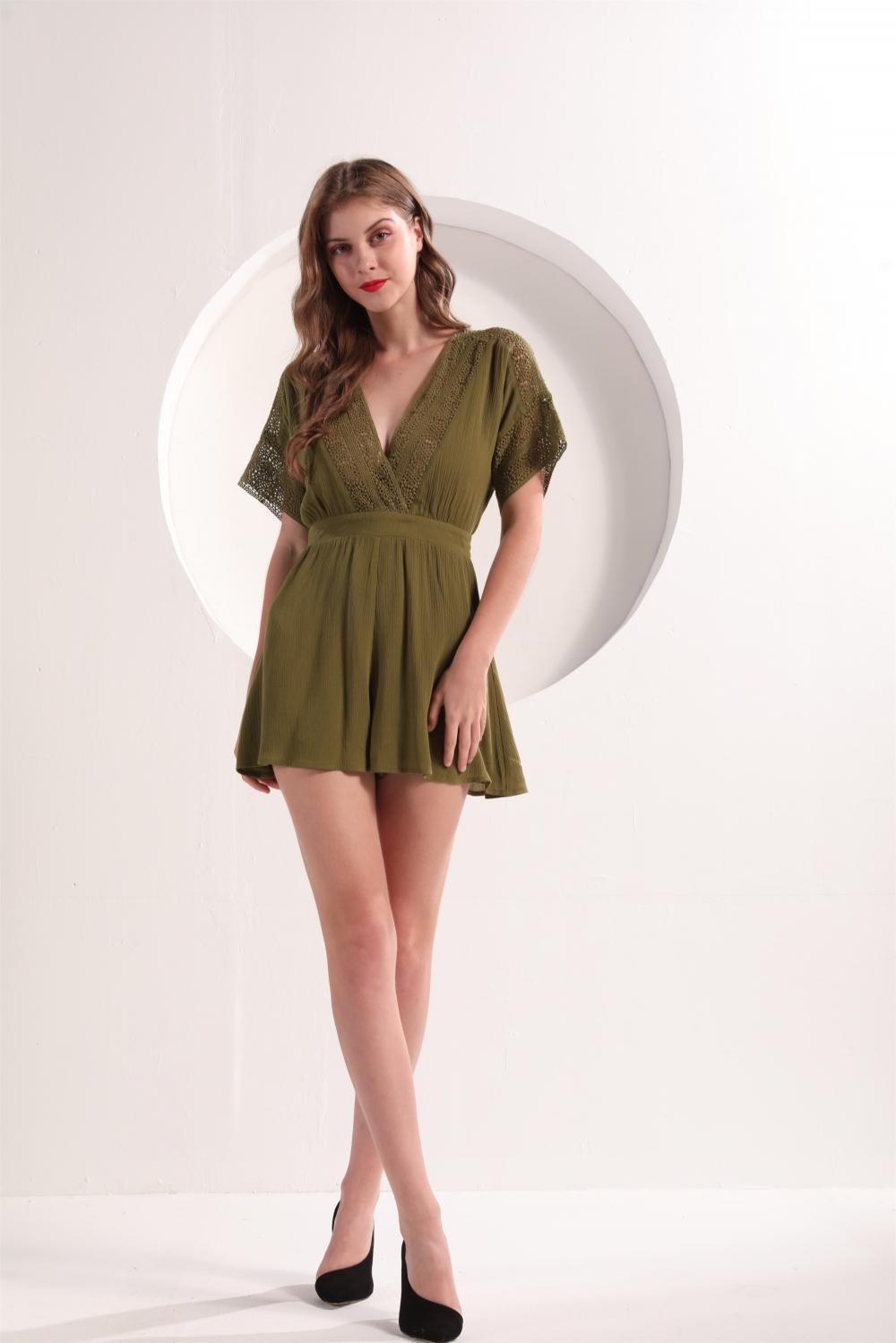 Women's Short Sleeve Romper