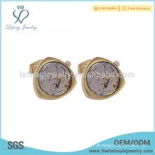 Antique abotoaduras de ouro para homens, engravable abotoaduras jóias