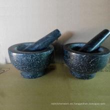 Morteros de Piedra de Granito y Pilones Fabricante De China Tamaño 13X9cm
