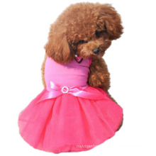 New fashion dog Princess wind apparel pink dog wedding dress