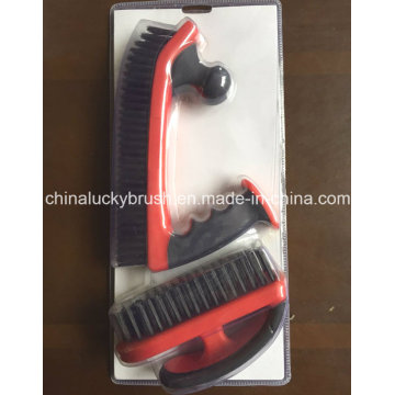 Steel Wire Double Colour Handle Industrial Brush (YY-533)