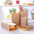 Kompostierbare, recycelte, haltbare Kraftpapier-Lunchbeutel