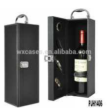 Neue Ankunft Luxus Leder Wein-Box für einzelne Flasche Großhandel