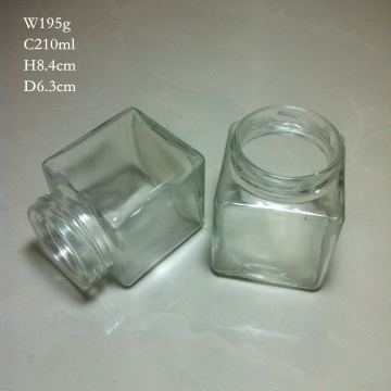 200ml Square Glass Jar Stock