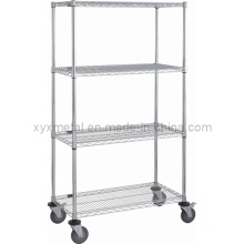 Chrome Steel with Heavy Duty Nylon Castor Wire Shelving