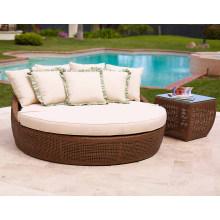Tumbona de jardín mimbre al aire libre Patio rota muebles