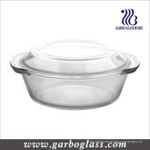 Alto de borosilicato resistente al calor Pyrex vidrio de cocina pote (GB13G13240)