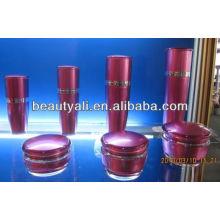 Cogumelo vazio cosméticos embalagem frasco acrílico