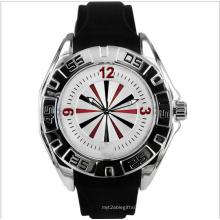 Quartz Fashion Sport Silicon Watch comme cadeau