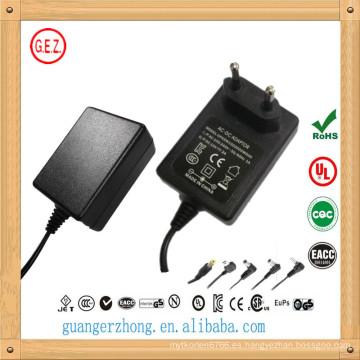mejor venta de 15v 1500ma ac dc adaptador de corriente fabricado en China