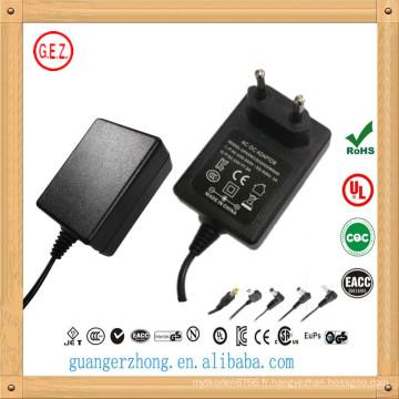 meilleur vente 15v 1500ma ac dc adaptateur secteur fabriqué en Chine
