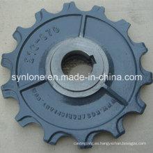 Piezas de la placa del bastidor de la arena del hierro del OEM con trabajar a máquina del CNC